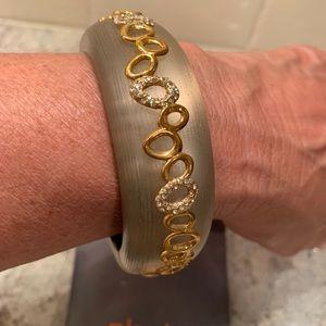 Alexis Bittar Bracelet with Crystals, warm grey